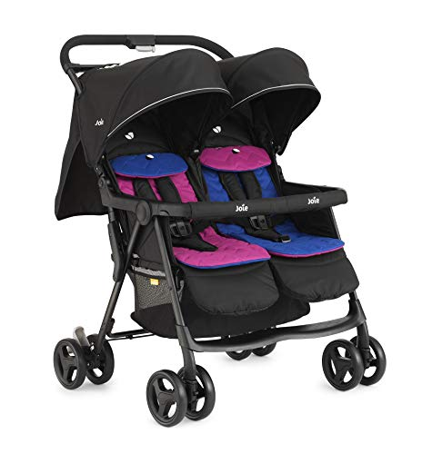 Joie Aire Twin Stroller - Pink/Blue Joie Weight 11.6kg. Max child weight 15kg. Age suitability: from birth to 3 years. 4