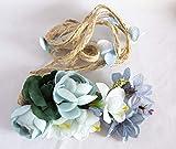 Cinturón de cuerda con adorno de ramo de flores. Envío GRATIS 72h (Azul y verde)