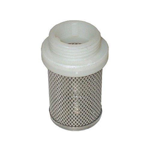 Filterkorb Edelstahl Aussengewinde Saugkorb Filter Teich koi Ansaugfilter Schmutzfilter 1/2