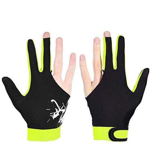 Taoke Professionelle Billard Handschuhe 3 Finger Snooker Pool Cue Shooters Männer Frauen Handschuhe for Rechts Left Hand 8bayfa (Color : Dark Yellow, Size : M)