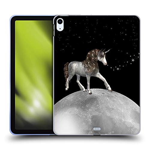 Head Case Designs Officially Licensed Haroulita Unicorn Black And White Soft Gel Case Compatible With Apple iPad Air (2020)