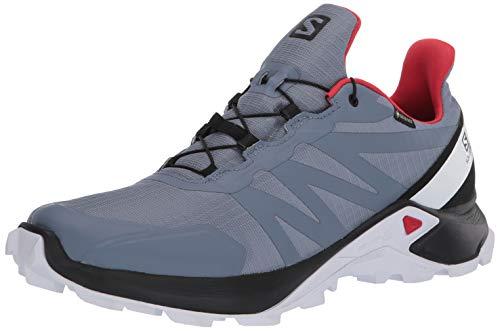 Salomon Supercross GTX Herren Traillaufschuhe, (Feuerstein/Schwarz/High Risk Rot), 46 EU