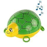 ANSMANN Sternenlicht Projektor - Schildkröte Nachtlicht mit Musik & Sternenhimmel Projektor ideal als Einschlafhilfe für Baby & Kinder - LED