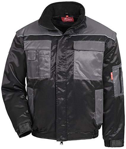 Nitras 7130 Männer-Sicherheitsjacke - Jacke für die Arbeit - Schwarz-Grau - M