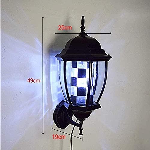 Banda de pared linterna peluquero polo led luz retro salón peluquería muestra iluminando rotación impermeable ahorro energía lámpara de pared peluquería girarse luz salón salón lámpara de turno