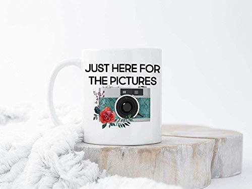 Divertida taza para fotografía de regalo, taza de cerámica blanca A5