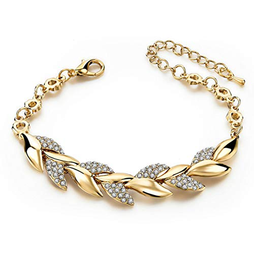 BGQ Golden Leaf Small Fresh Bracelet Mujeres