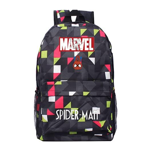 Marvel Spider-Man - Mochila escolar para niños y niñas, ajustable, impermeable, A1., 27*12*35CM,