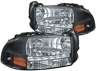 MPH 97-04 Dakota/ 98-04 Durango OEM Driver & Passenger Replacement Headlights Lamps Assembly