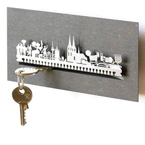 13gramm Köln-Skyline Schlüsselbrett Souvenir in der Geschenk-Box