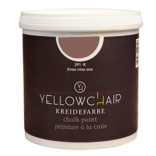 Kreidefarbe yellowchair 1 Liter ÖKO für Wände und Möbel Shabby Chic Vintage Look (No. 391R rosenholz)