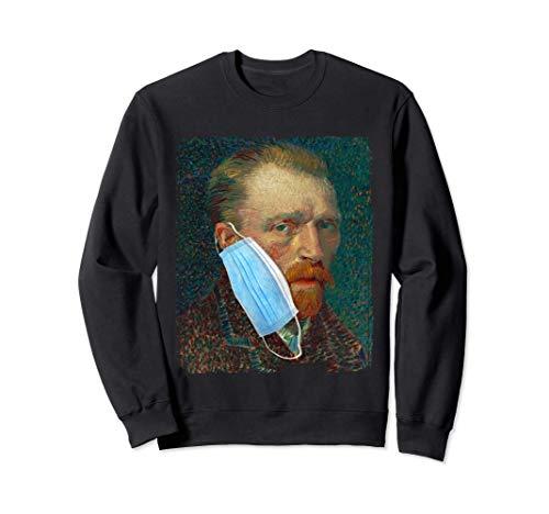 Divertente meme di Van Gogh che indossa una maschera Felpa