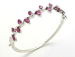 ruby rhodium bracelet