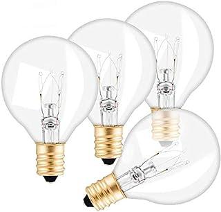 Verdelif Paquete de 25 bombillas de repuesto G40, bombillas de globo G40 de 7 vatios E12 Base para portalámparas IP44 Resistencia al agua Blanco cálido para luces de cadena Fiesta en casa