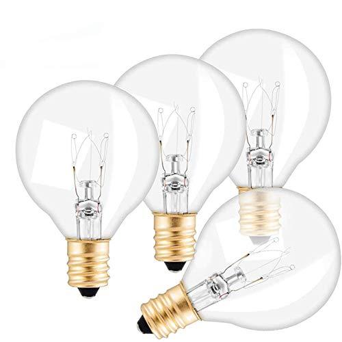 Vingtank Paquete de 25 bombillas de repuesto para cadena de luz G40, 7 W con cable de luz, enchufe E12, blanco cálido IP65 220-240 V adecuado para bombilla de luz de cadena (bombilla)