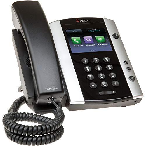 Polycom VVX500 VoIP Schreibtisch-Telefon-Set mit Headset und Wipe-Netzteil Nicht enthalten (Zertifiziert generalüberholt)