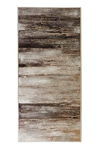 Fink Morgana/Wanddeko,Öl m.Silberfolie/Alu / 150x70cm