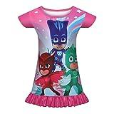 Aepotumn Girls Nightgown Princess Toddler Nightdress Cute Pajamas Cartoon Character Sleepwear for Kids 3D Print Nightie Rose