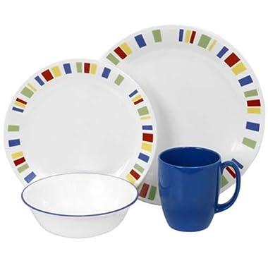 Corelle Livingware 16-Piece Dinnerware Set, Memphis, Service for 4