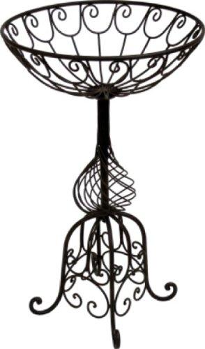 Blumenständer Pflanzständer* Metallkorb mit Fuß* Eisen antik, dunkelrostfarben lackiert, Ø 50 cm