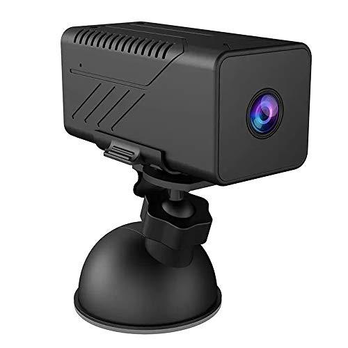 ODDINER Acción de la cámara 1080P 3000mAh Mini WiFi Remoto walkie Talkie grabación Video cámara de visión Nocturna Compatible con Android iOS de Windows Negro Amplia WiFi ángulo Deportes CAM