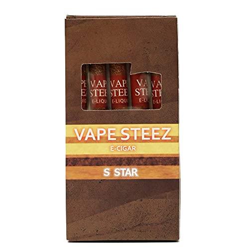 VAPE STEEZ NON-NICOTINE E-CIGAR 使い捨て電子タバコ 吸引回数500回 5本セット (S Star)