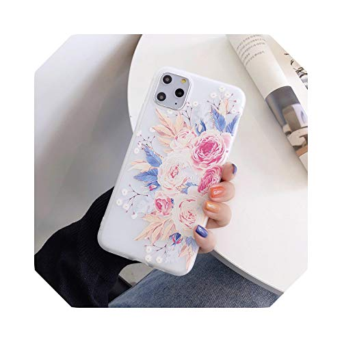 Carcasa 3D de silicona para iPhone 5, 5S, 6, 6S, 7, 8 Plus, 11, 12, Mini Pro X, XS XR Max Back Cover-A-para iPhone 5 y 5S, diseño de flores