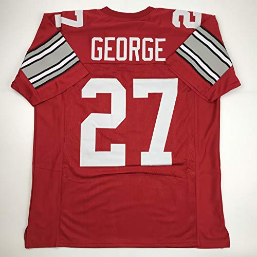 Unsigned Eddie George Ohio State Red Custom Stitched College Football Jersey Size Men's XL New No Brands/Logos