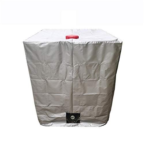 Sailsbury 120 x 100 x 116 cm, cubierta de barril 210D, impermeable, protección solar IBC, tapa para depósito de agua de lluvia, adecuado para tanque de 1000 l