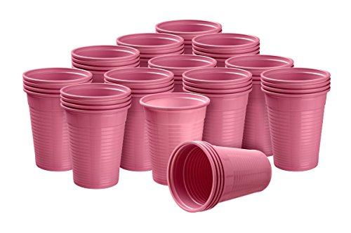 3000 Trinkbecher 0,18 L 180 ml Ausschankbecher Becher Plastikbecher in verschiedenen Farben wählbar W5 Akzenta (pink)