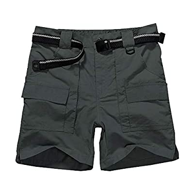 Men's Outdoor Casual Expandable Waist Lightweight Water Resistant Quick Dry Cargo Fishing Hiking Shorts (6033 Grey 38)
