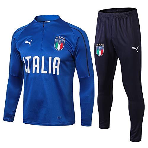 SQUZEA Italienisch langärmelige Sportkleidung, Männer mit Langen Ärmeln Fußballuniform Verein einheitlichen Trainingsanzug Wettkampfanzug Jugend Joggen top & Pants Kleidung (Size : S)