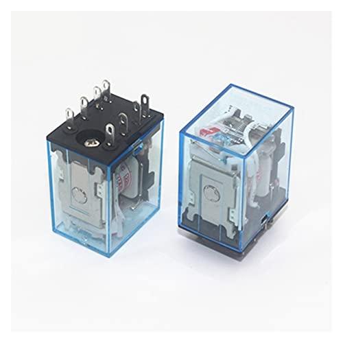 Jgzwlkj Relé MY2P HH52P MY2NJ Relais Boil General DPDT Micro Mini Relaje electromagnético Interruptores con LED AC 110V 220V DC 12V 24V 36V 380V (Größe : DC24V)