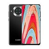 CUBOT Note 20 Pro Smartphone, 8GB RAM+128GB ROM, 20 MP AI Cámara Cuádruple, 6.5' Pantalla HD Water-Drop, Android 10 Móvil, Octa-Core, 5G WiFi, 4200mAh Batería, Dual SIM, NFC, Face ID, GPS, Negro