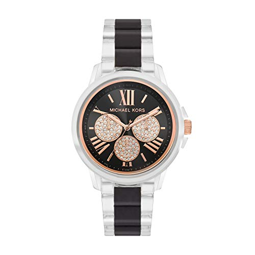 Michael Kors Women's Bradshaw Multifunction Clear-Tone Nylon Watch MK6871
