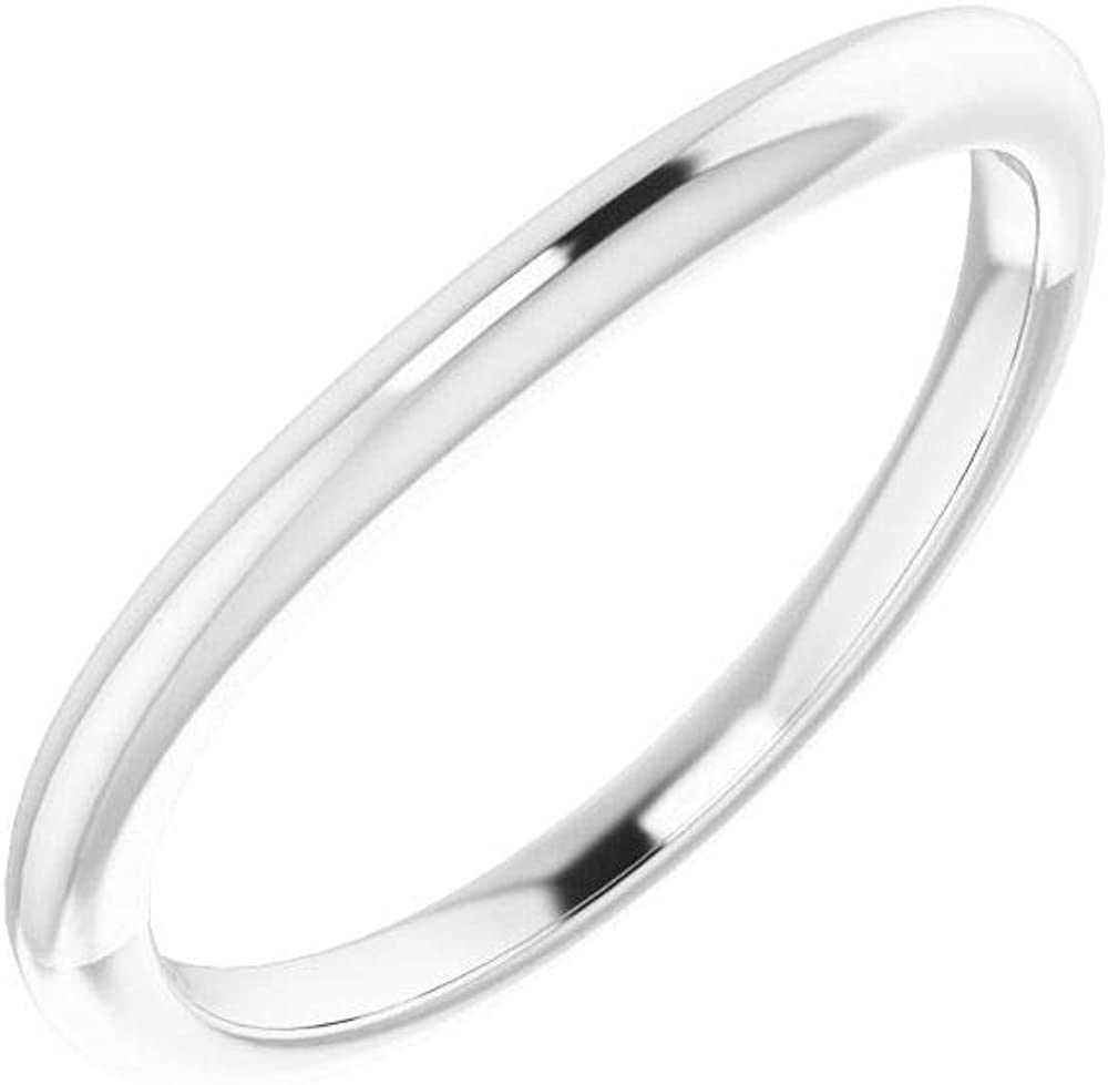 Solid Platinum High order Arlington Mall Curved Notched Wedding Band 9 9mm Cushion for x R