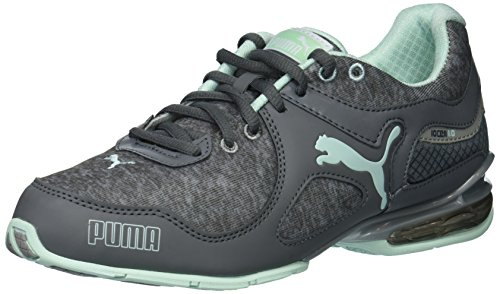 PUMA Women's Cell Riaze Cross Trainer, Black/Steel Gray, 7.5 M US