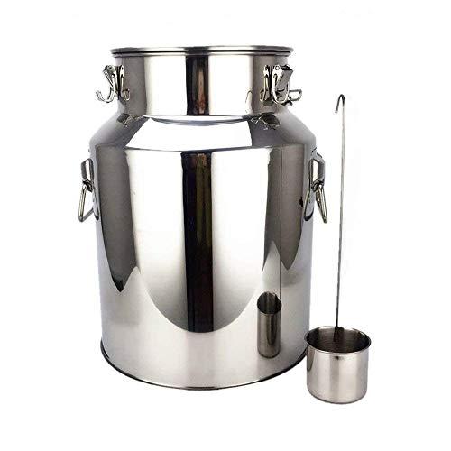 InLoveArts 4,75 Gallonen 304 Edelstahl Barrel, 18L Edelstahl Fermenter Hausbrauen Wein Bier Machen Trommel, Lager Öl Reis Wasser Fass