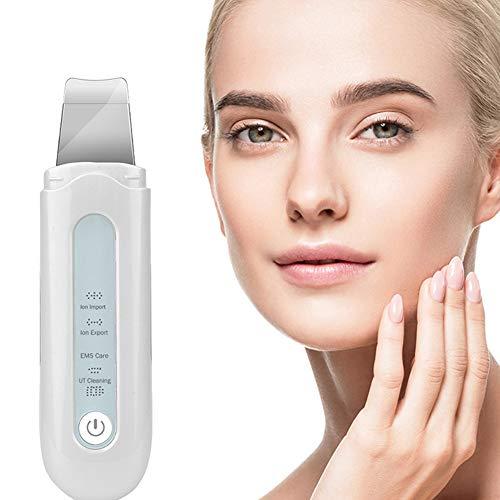 Spatule pour le visage avec épurateur de peau, épurateur de visage vibrant, appareil d'instrument de beauté épluchant, extracteur de comédons multifonctionnel pour le nettoyage en profondeur du v