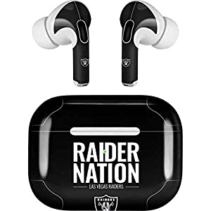 Skinit Decal Audio Skin Compatible with Apple AirPods Pro - Officially Licensed NFL Las Vegas Raiders Team Motto Design by Skinit