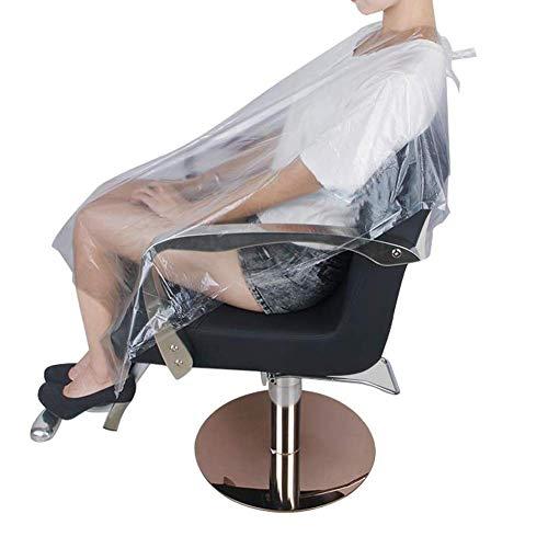 100 Stück Haarschnitt Einwegumhänge Wasserdichte Friseursalons Umhänge Haarschnitt Schürze Friseursalon Einwegbeutel Werkzeuge,Clear