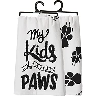 Primitives by Kathy My Kids Have Paws Kitchen Towel