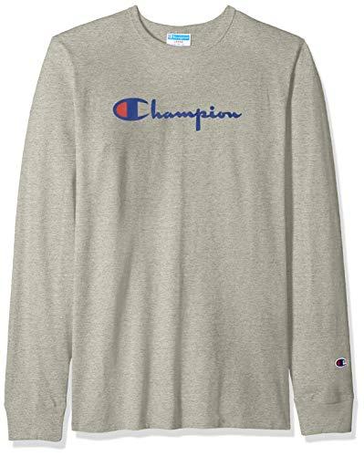 Champion Life Playera Manga Larga para Hombre Camiseta de Manga Larga para Hombre, Color Gris (1IC Oxford…