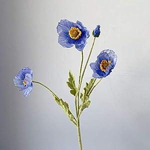 Yqs Artificial Flowers Beautiful Artificial Flowers Poppy Stem Silk Flowers Home Wedding Decoration Gift