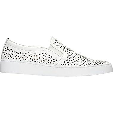 Vionic Women Midi Perf Walking Shoe, White, 8 M Us