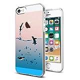 Verco Coque pour iPhone Se, Bumper Housse Etui de Protection pour Apple iPhone 5/5s Coque Silicone, Manchot