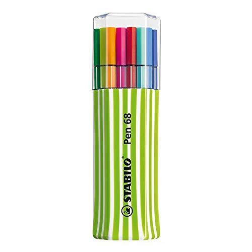 Caneta Stabilo Pen 68 Estojo triangular com 15 cores
