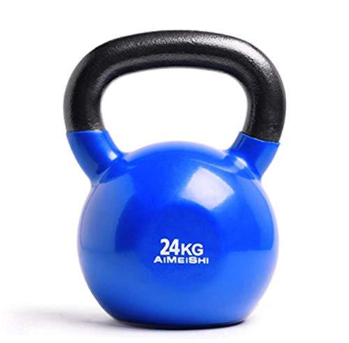 Mancuernas de levantamiento de pesas para hombres y mujeres Mancuernas multifunción 4-28 KG Barra antideslizante para ejercicio Entrenamiento físico Kettlebell Squat Arm Hip Kettlebell Ball, 24 KG