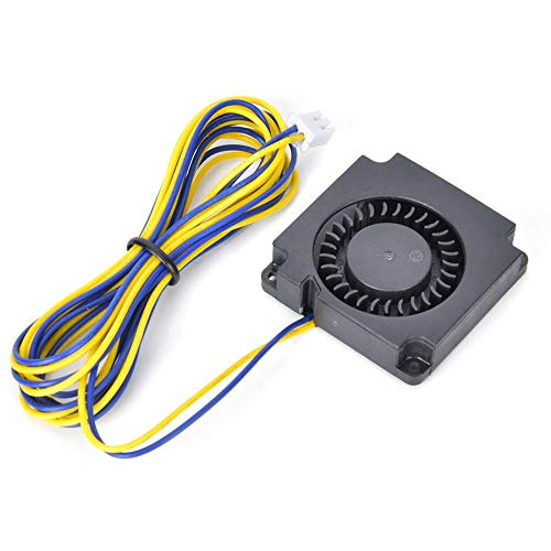 Durable 40mm Cooling Blower Fan, All Metal Manufacturing Long Service Life 3D Printer Blower Fan, Blower Fan Air Cooling for Cooling Printer Accessories