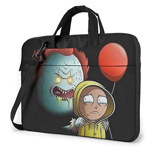 Rick Morty Halloween Laptop Bag 14 15 16 Inch Briefcase Shoulder Messenger Bag Water Repellent Laptop Bag Satchel Tablet Bussiness Carrying Handbag for Women and Men14 inch